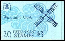 Usa 1980 Windmills Complete Booklet unmounted mint.