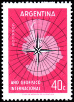 Argentina 1958 International Geophysical Year unmounted mint.