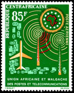 Central African Republic 1963 African Telecommunication Union unmounted mint.