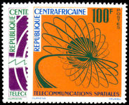Central African Republic 1963 Space Telecommunications unmounted mint.