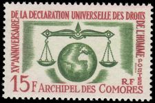 Comoro Islands 1963 Human Rights unmounted mint.