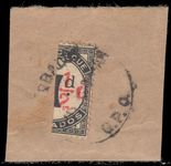 Barbados 1934 ½d On 1d Postage Due bisect on piece