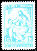 Dominican Republic 1963 Jesus Child Welfare Perf 12 unmounted mint.