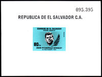El Salvador 1964 J F Kennedy Airmail souvenir sheet unmounted mint.