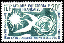 French Equatorial Africa 1958 Human Rights unmounted mint.
