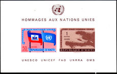 Haiti 1959 Human Rights souvenir sheet unmounted mint.