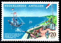 Netherlands Antilles 1961 American Flag And Ship unmounted mint.