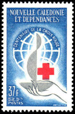 New Caledonia 1963 Red Cross unmounted mint.
