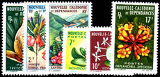 New Caledonia 1964 Flowers part set unmounted mint.