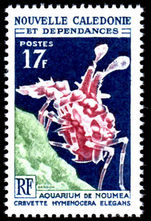 New Caledonia 1964 17fr Coral unmounted mint.