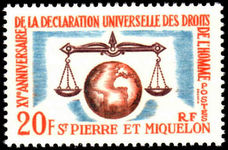 St Pierre et Miquelon 1963 Human Rights unmounted mint.