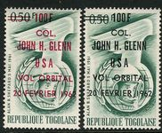 Togo 1962 John Glenn Orbital Flight set unmounted mint.