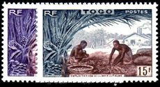 Togo 1954 Palm Nuts 8fr & 15fr unmounted mint.