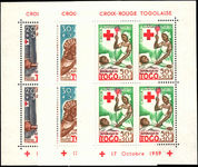 Togo 1959 Red Cross souvenir sheet perf unmounted mint.