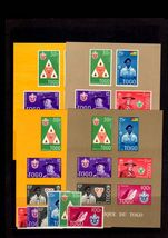 Togo 1961 Scouts with all 4 souvenir sheets unmounted mint.