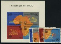 Togo 1961 UN Economic Commission set and souvenir sheet unmounted mint.