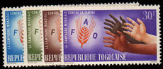 Togo 1963 Freedom From Hunger unmounted mint.