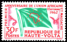 Upper Volta 1962 African Union unmounted mint.