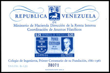 Venezuela 1961 Engineering College souvenir sheet With Value unmounted mint.