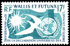 Wallis and Futuna 1958 Human Rights unmounted mint.