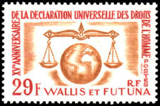 Wallis and Futuna 1963 Human Rights unmounted mint.