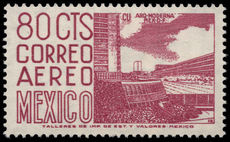 Mexico 1962-75 80c University City ordinary paper perf 14 wmk multi MEX-MEX photogravure unmounted mint.