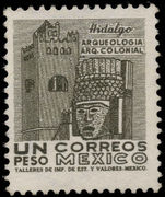 Mexico 1963-73 1p Actopan Convent whiter paper wmk MEX and eagle in circle unmounted mint.