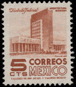 Mexico 1953-76 5c Mexico City ordinary paper wmk multi MEX-MEX unmounted mint.