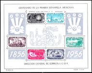 Mexico 1956 Stamp Centenary Air souvenir sheet  Tone Mark In Margin unmounted mint.