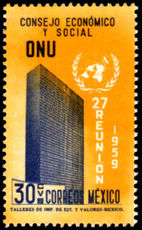 Mexico 1959 U.N. Economic and Social Council Meeting unmounted mint.