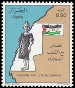 Algeria 1976 Solidarity with the people of Western Sahara unmounted mint.