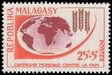 Malagasy 1963 Freedom From Hunger unmounted mint.