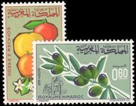 Morocco 1966 Agricultural Products (2nd and 3rd issues) unmounted mint.
