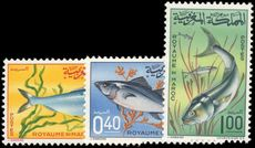 Morocco 1967 Fishes unmounted mint.
