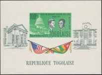 Togo 1962 J F Kennedy souvenir sheet unmounted mint.