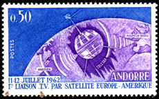 French Andorra 1962 TV Satellite Link unmounted mint.