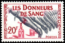 France 1959 Blood Donor unmounted mint.