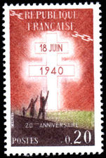 France 1960 De Gaulle's Appeal unmounted mint.