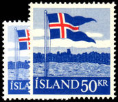 Iceland 1958 40th Anniv of Icelandic Flag unmounted mint.
