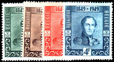 Belgium 1949 Belgian Stamp Centenary regular set unmounted mint.