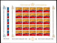 Liechtenstein 1960 World Refugee Year in full sheets 25 of unmounted mint.