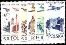 Poland 1957 Original air values unmounted mint.