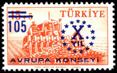 Turkey 1959 10th Anniv of Council of Europe unmounted mint.