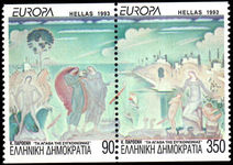 Greece 1993 Europa Contemporary Art unmounted mint.
