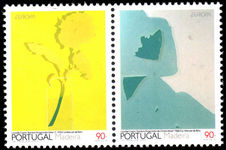 Madeira 1993 Europa Contemporary Art pair from sheet unmounted mint.