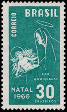 Brazil 1966 Christmas 30cr unmounted mint.
