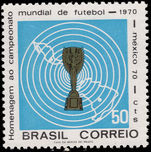 Brazil 1970 World Cup Football unmounted mint.
