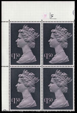 £1.50 pale mauve and grey-black cylinder block unmounted mint.