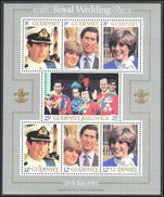 Guernsey 1981 Royal Wedding souvenir sheet unmounted mint.