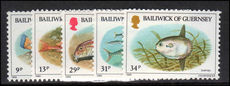 Guernsey 1985 Fishes unmounted mint.